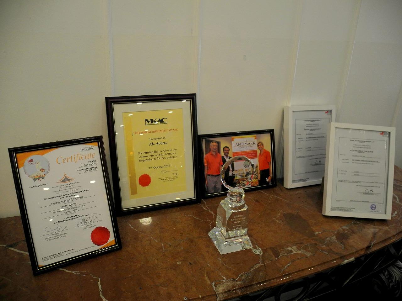 ランドマークレストラン政府機関から表彰