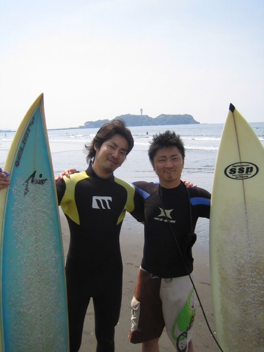 パートナーの小野氏と。