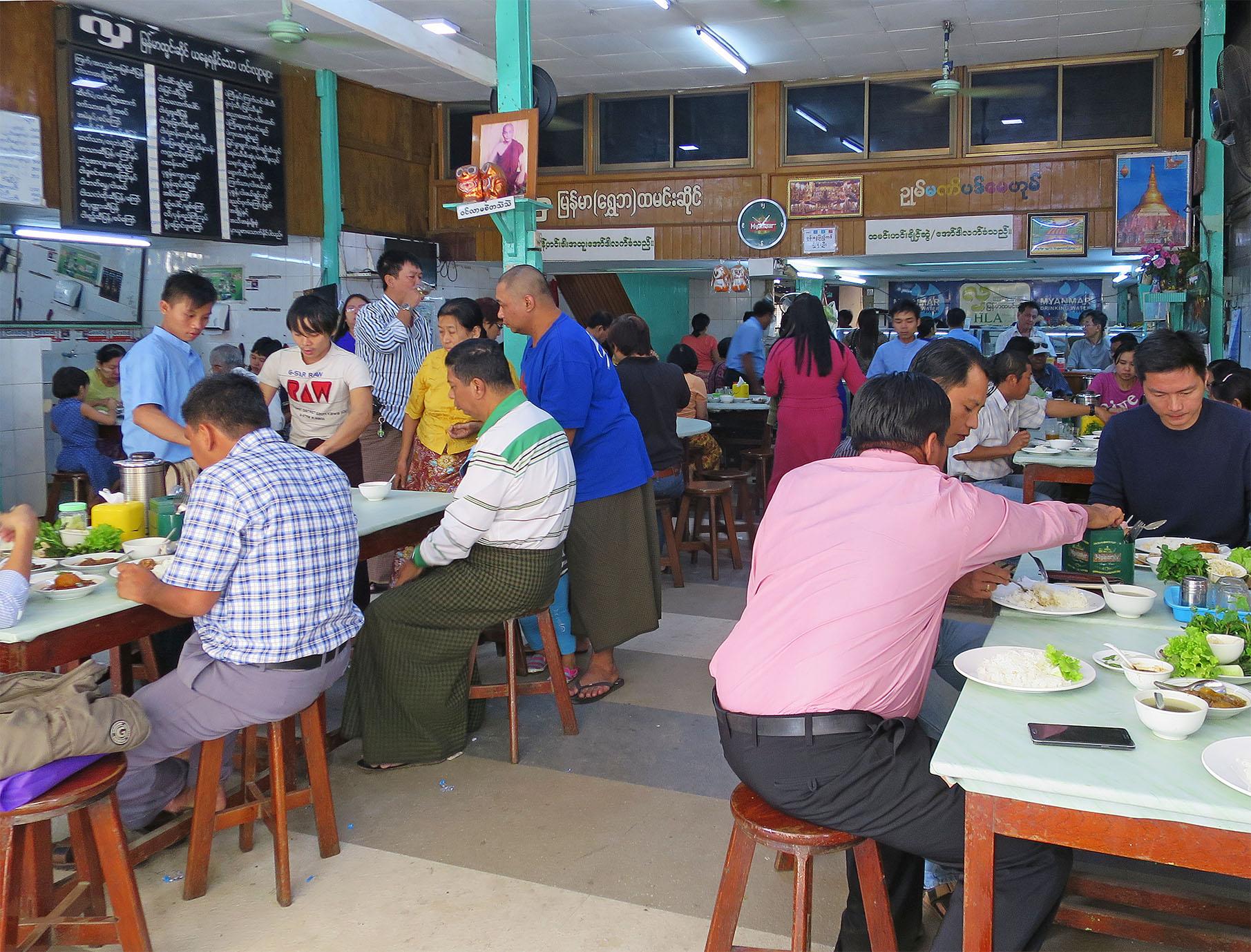 ミャンマーでもっとも一般的な大衆食堂