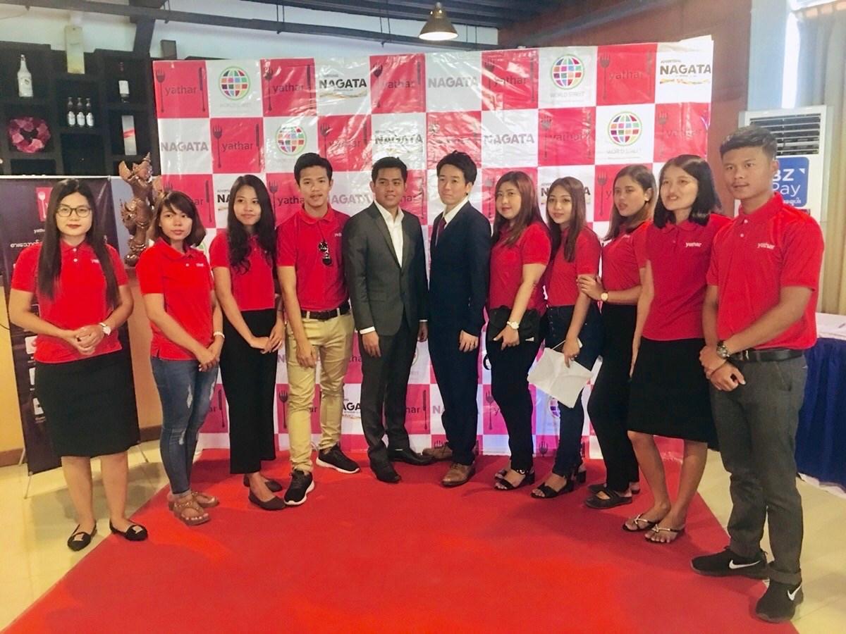 ミャンマー第二の都市であるマンダレー市に支店開設した時の様子