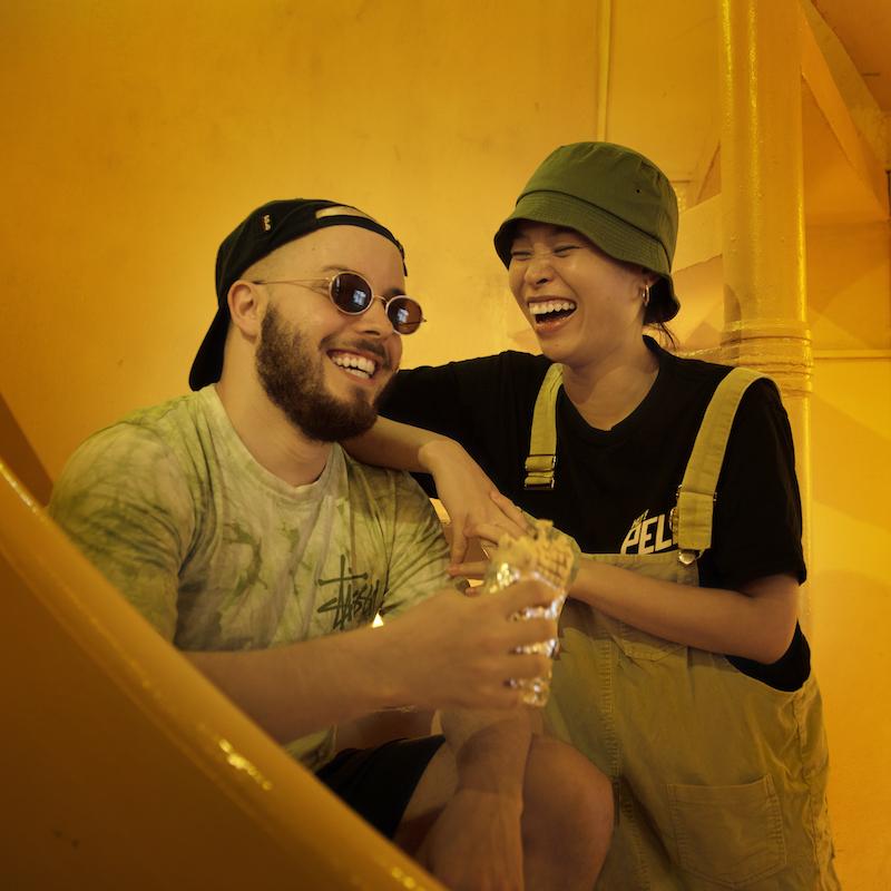 左:Julienさん、右:Phuongさん