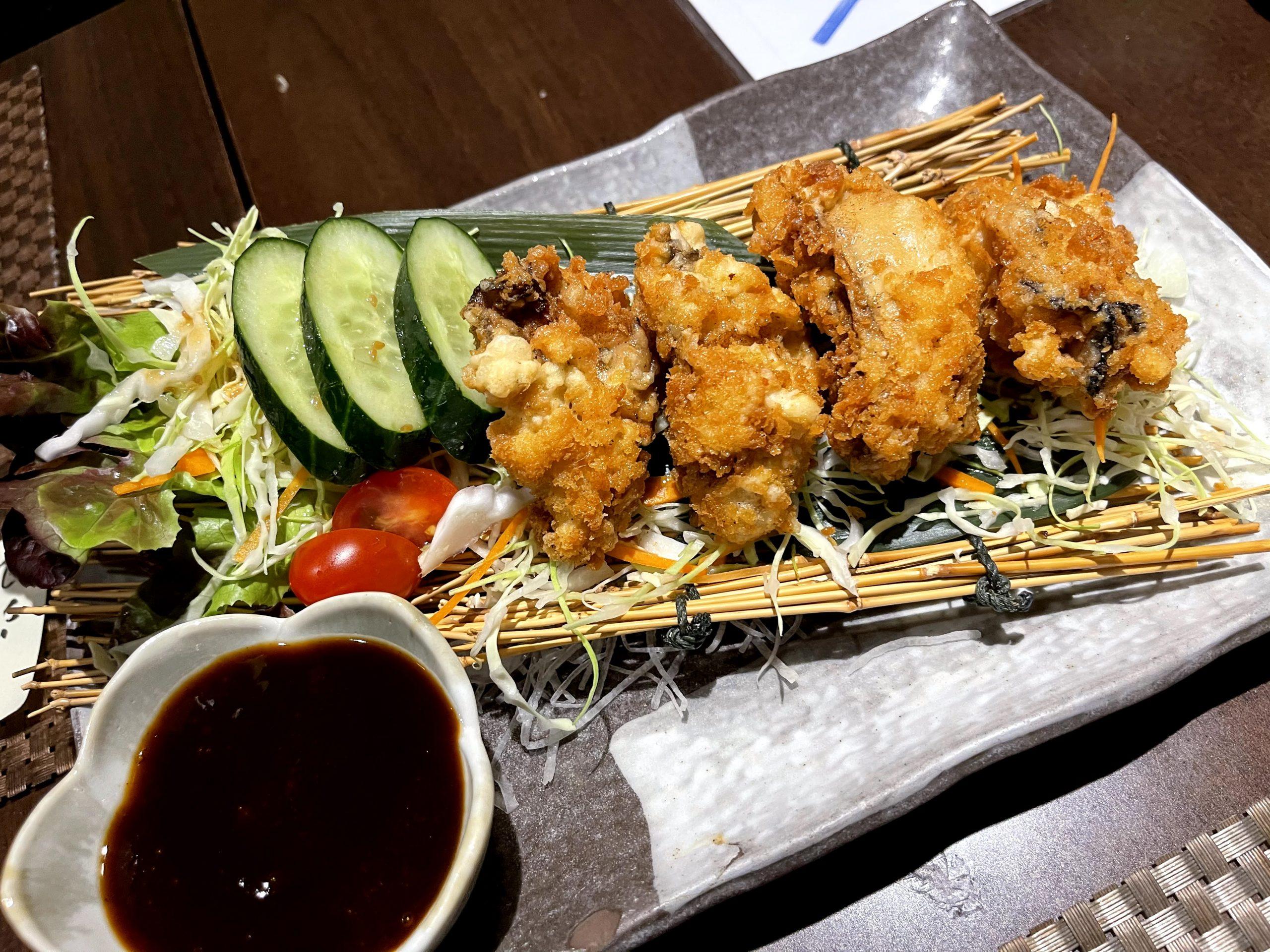 牡蠣フライ バンコク 三陸