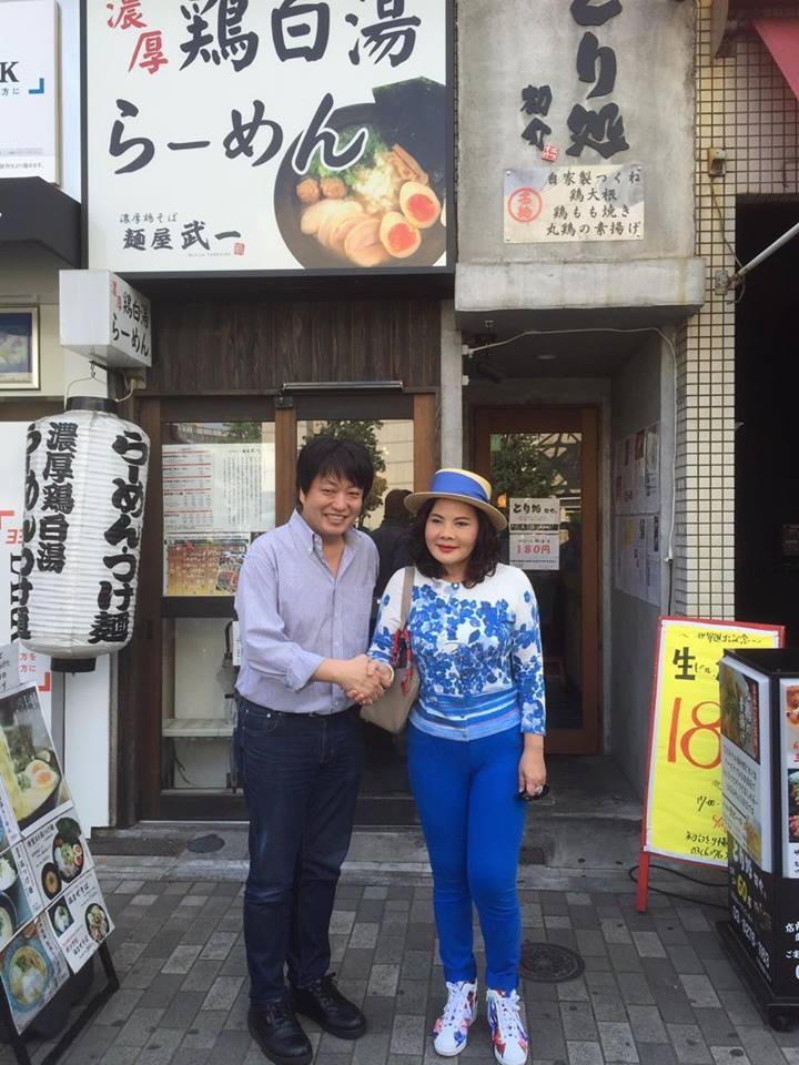 麺屋武一大澤代表とリード氏