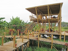 La Rizière 住所:Near Kanu village, Nyaung Shwe Tsp., Shan State  電話:09-7872-30306 営業時間:9:30~18:00(要予約でディナーリクエストにも対応可能) URL:https://www.facebook.com/Burmeseandasianrestaurant/?ref=br_rs