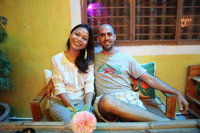 左:Jadeさん、右:キプロス出身の彼、Gabiさん